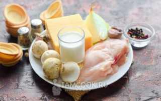 Рецепт тарталеток с грибами и курицей