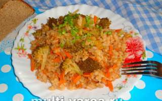 Рис с брокколи в мультиварке