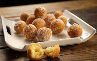 Пончики на сметане пышные на сковороде
