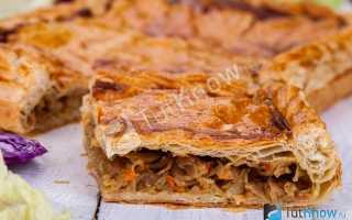 Рецепт постного пирога с капустой в духовке