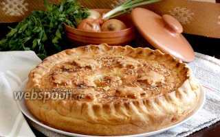 Рецепт пирога со свининой и картошкой