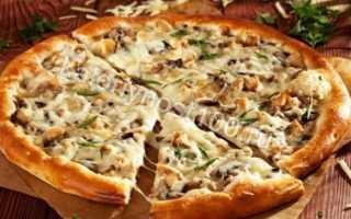 Пицца курица с грибами калорийность