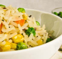 Рис с кукурузой и зеленым горошком рецепт