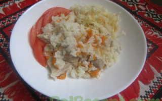 Рис с мясом в мультиварке редмонд