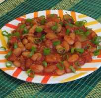 Рагу с консервированной фасолью и картошкой