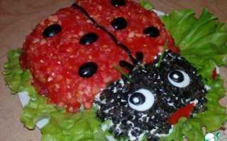Рецепт салата божья коровка с помидорами