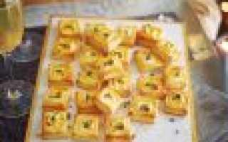 Рецепты закусок со слоеным тестом