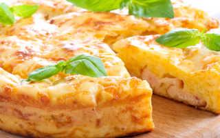 Пирог из сырого картофеля