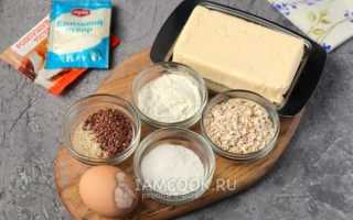 Рецепт детского овсяного печенья