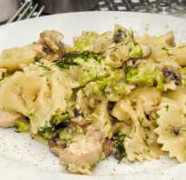 Рецепт пасты с курицей и брокколи