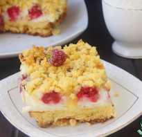 Пирог с тертой малиной рецепт