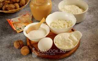 Рецепт орешков со сметаной в орешнице