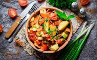 Рагу из овощей с кабачками калорийность