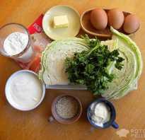 Пирог с капустой и кунжутом