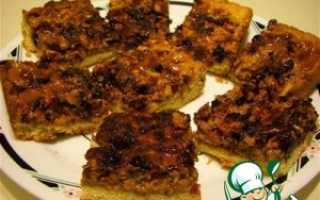 Пирог ореховый со сгущенкой