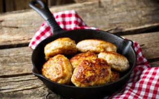 Рецепт котлет из куриного фарша для детей