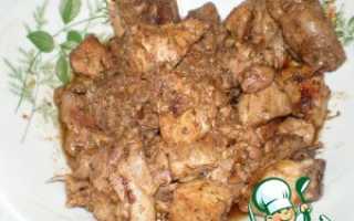Рецепт курицы с орехами и сметаной