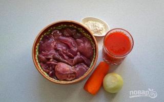 Печень куриная с томатной пастой рецепты