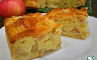 Пирог с яблоками на кефире калорийность