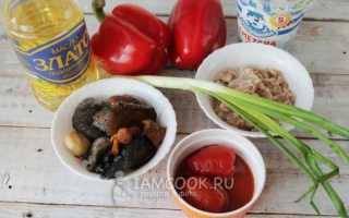Перец фаршированный мясом и грибами рецепт