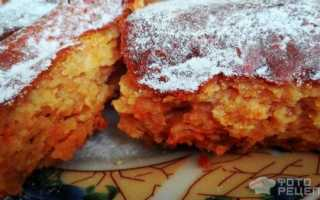 Пирог с творогом и морковью в духовке