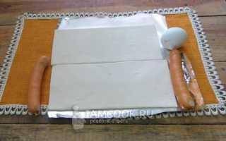 Пирог из сосисок в тесте в духовке