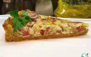 Пирог выручайка рецепт с колбасой