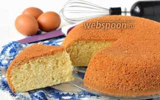 Рецепт бисквита на кипятке в мультиварке