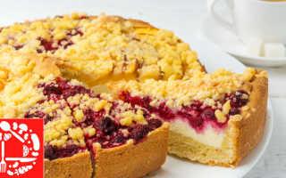 Пирог с творогом и фруктами рецепт