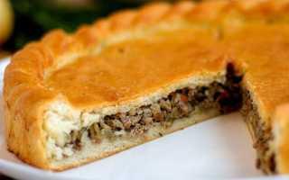Пирог мясо капустный рецепт с фото
