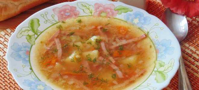 Рассольник с рисом и томатом