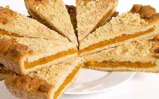 Песочный пирог с сухофруктами