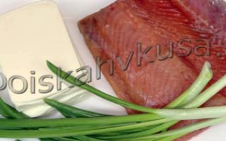 Паштет из соленой красной рыбы