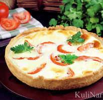 Рецепт пирога с брынзой и помидорами