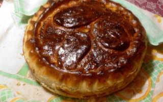 Пирог с тушеной капустой рецепт