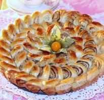 Пирог с корицей из дрожжевого теста