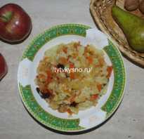 Плов фруктовый с рисом в мультиварке