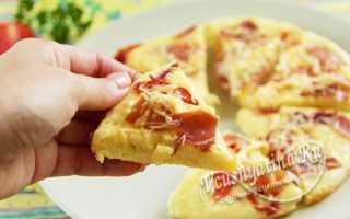 Пицца на сковородке без сметаны и кефира