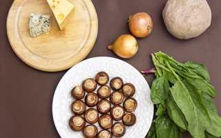 Рецепт песочного пирога с грибами