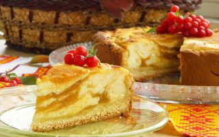 Пирог с творожно тыквенной начинкой
