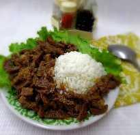 Рис с мясом в казане рецепт
