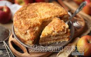 Пирог манная крупа яблоки