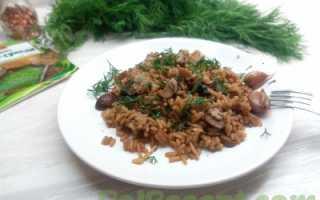 Рис с грибами рецепт в мультиварке