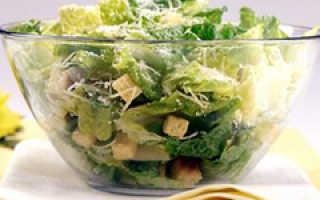 Пищевая ценность салата цезарь с курицей
