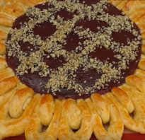Пирог солнце рецепт с фото