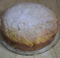 Рецепт пирога с тыквой на кефире
