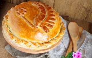 Рецепт курника на сметане и маргарине