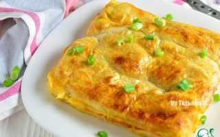 Пирог с кальмарами рецепт