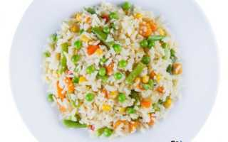 Рис с овощами замороженными рецепт с фото