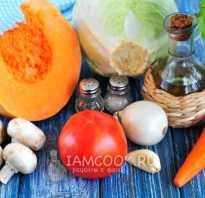 Рагу овощное с тыквой рецепт с фото
